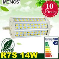 MENGS 10Pcs per pack R7s J135 14W LED Dimmable Flood Light 54x 5730 SMD LEDs LED Lamp Bulb in Warm/Cool White Energy-saving Lamp