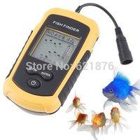 Portable Wireless Fish Finder Depth Undewater Sonar LCD Sounder Alarm Transducer Fishfinder 100m Freeshipping