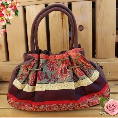 Compra bolsas de tela hecha a mano online al por mayor de China .