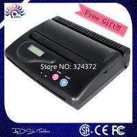 DHL Free Shipping Black Original USB Tattoo Thermal Transfer Copier Printer Stencil Machine use A4 transfer paper with big gift
