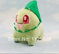 "Free Shipping Anime Pokemon Chikorita Stuffed Plush Dolls Toys 5.5""14cm Kids Children's Toys Gifts"