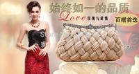 Women Fashion Boutique Evening Bags,Bridal Wedding Party Hand Bags Evening Clutch Diamond Silk knit weaves design