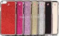 Bling Glitter Powder Chrome Metallic Metal Alloy Aluminum Hard Case For iphone 6 Plus 5.5'' 6G 4.7'' inch skin Cover
