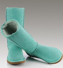 New int'l Brand 5825 5815 5854 Sheepskin boots 100% Wool inside Real fur lady women's Suede Leather Snow Boots With Original BOX(China (Mainland))