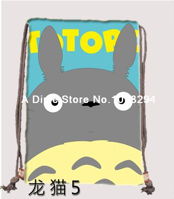 My Neighbor Totoro Drawstring bag Sports personalized Backpacks canvas school Clothes Travel Outdoor custom kids drawstring bags(China (Mainland))