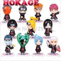 free shipping Japanese anime Naruto AKATSUKI organization all members Q version PVC figure 11pcs/set
