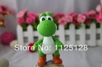 Free Shipping Nintendo Video Game  Super Mario green yoshi Figure Toys Nice Gift for kids children