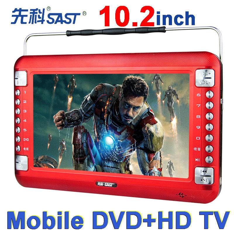 2014 Limited Tv Portatil free Shipping Sast 10.2 Inch Portable Dvd Vcd Cd Mp3 Mp4 Player + Tv +av Input Electronic Album Game(China (Mainland))