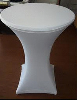 """Spandex table cover,cocktail table cover 30"""" round,40"""" height"""