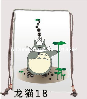 My Neighbor Totoro Drawstring bag Sports 2014 new Backpacks canvas school Clothes Travel Outdoor custom kids drawstring bags(China (Mainland))