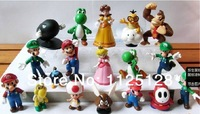 "Super Mario Bros 1~2.5"" Toys Action Figure Doll 18pcs/set  free shipping"