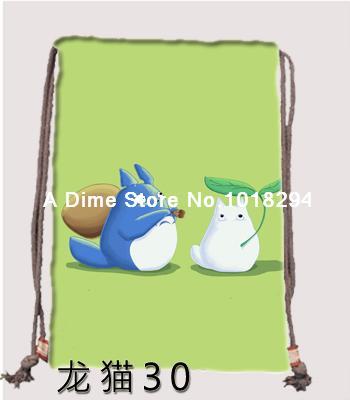 My Neighbor Totoro Drawstring bag Sports boy gift Backpacks Book school Clothes Travel Outdoor custom kids drawstring bags(China (Mainland))