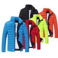 New Men Down Jackets Slim thick warm cotton, 9 color mens winter jackets and coats winter jacket for men (gift gloves) M50036