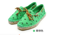 Fashion women  espadrilles , handmade rivet hemp-soled breathable casual canvas shoes,just small size