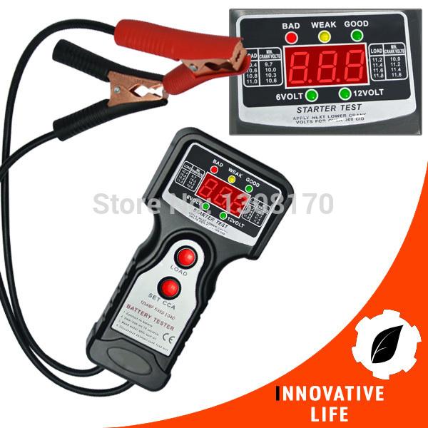 Car Automative Vehicular Auto Battery Tester with 6V and 12V Voltage Indicator Digital Checker Analyzer(China (Mainland))