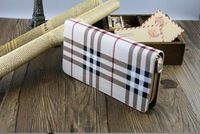 2014 New Fashion Women Wallets Zipper PU leather purse Wrist Clutch Card Slot Evening Party Bag free shipping C824-65