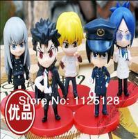 Free Shipping Katekyo Hitman Reborn Figure 8cm PVC Action Figures Toy Model Doll gift Xanxus Kyoya Hibari Yujin  5pcs/set