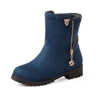 New 2014 Fashion Warm Plush Women Flats Shoes Snow Boots Women Boots Autumn Winter Boots Plus Size Free Shipping