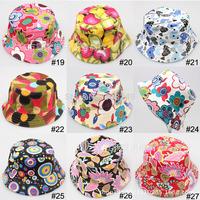 5pcs/lot 36 Styles New Fashion Cute Baby Children Cotton Beach Caps Kids Photo Model Children Sun Hats