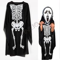 Children Kids Halloween Costume Skeletons Print Clothes Skull Cosplay Devil Dress Cool For Costume Ball Dress up sv18 sv009930