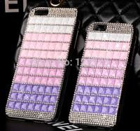 For iPhone 6 4.7 Bling Diamond Gem Rhinestone Cubic Luxury Colorful Case