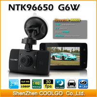 "Original G6W Car DVR , 2.7"" Inch , Full HD 1080P,  Novatek 96650 + AR0330 CMOS Sensor + 170 Degree Angle Vehicel Video Recorder"