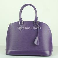 2014 new stylish Western style cowhide shoulder diagonal wavy shell baodan leather bag