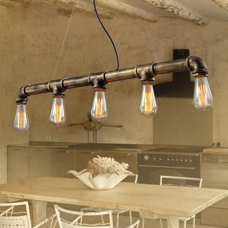 Loft Vintage Edison Pendant Lights Personalized Bar Lighting Industrial Vinta...
