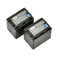 2PCS DSTE VW-VBK360 Battery compatible for Panasonic SDR-S71, SDR-T50, SDR-T70, SDR-T71, SDR-T76, HC-V10, HC-V100, HC-V100M