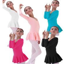 Retail Long sleeved Ballet Tutu Skate Dance Birthday Party Skirt Dress Pink White Black Blue Hotpink