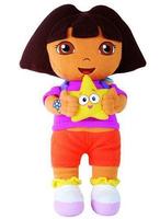 "Free Shipping 1pcs Dora the Explorer with Star Extra Large Plush Doll dora explorer baby Toy New 14"" Retail,birthday gift,X942"