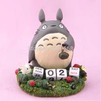 High Quality Totoro Ghibli Miyazaki animation peripheral mention zongzi resin ornaments hand to do desk calendar