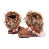 Hot Sell Women's Winter Warm Soft Fur Comfy Snow Boots Flat Short Ankle Boots Shoes  Free Shipping