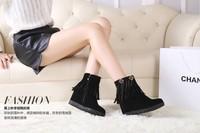 2014 new winter boots female Korean fashion trend of the Soviet Union increased female boots Rhinestone