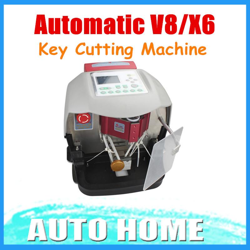 New Arrival! 2015 Automatic V8/X6 Key Cutting Machine X6 Car Key Cutting Machine V8 Auto Key Programmer Fast x6 key machine(China (Mainland))