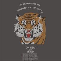 Big discount DHL free shipping TSU tiger rhinestone motif JS007A