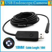 1280x720 Resolution HD Endoscope Camera Borescope Inspection Camera Dia 10mm 4 White LED Lights 10M Waterproof Snake Pipe Camera