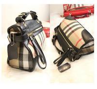 newest fashion genuine leather single shoulder bag plaid  whosales handbag vintage women's handbag