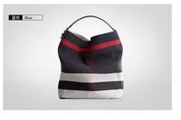 2014 new  fashion  Plaid casual hobo bag for Women genuine leather handbag Shoulder messenger bag