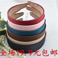 Free shipping  Wide  Plastic  Headband Hair Band  Accessory  Headwear Satin  2.8CM
