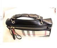2014 designer brand fringe plaid handbag women bolsa com franja British fashion vintage genuine leather shoulder bag