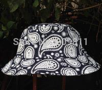 outdoor print floral bucket hats hip hop men women Cashew flowers fishing hat
