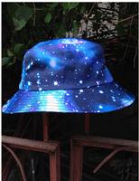 print galaxy star summer bucket hats for men   women hip hop sun cap