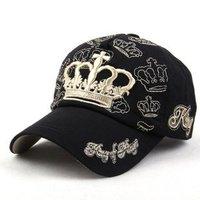 Free shipping crown Cap Men's and women's fashion leisure baseball cap Sun hat (6 color )