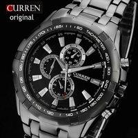 Men's Fashion Stainless Steel strap watches military clock quartz watch relogios sports Wristwatches men relojes