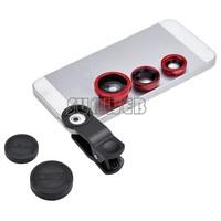 lens universal 3in1 clip fish eye lens wide angle macro lens for mobile phone iphone samsung motorola all phones sv18 sv009334