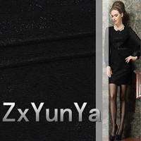 new black composite hollow corded mesh thread gauze dress suit fabrics apparel fabrics