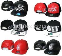 Top Quality ! Hot Sale Last kings Snapback hats black red leather men & women classic bone last kings strapback LK baseball caps