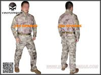 EMERSON Uniform Riot Style A-TACS AU Arid/Urban Tactical Uniform Set Teflon Coated+Free shipping(SKU12050394)