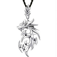 Men Jewelry Dragon Necklace 100% 925 Sterling Silver Necklaces Men Necklaces & Pendants Silver Jewelry